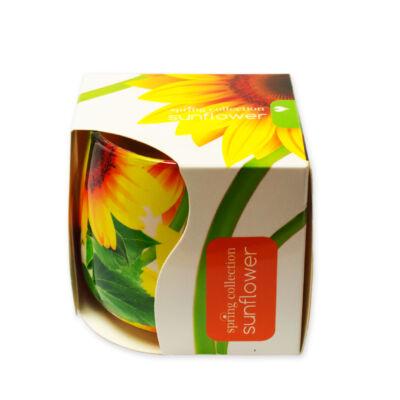 Napraforgó illatmécses exkluzív üvegpohárban