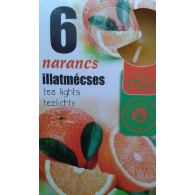 Narancs teamécses 6db-os