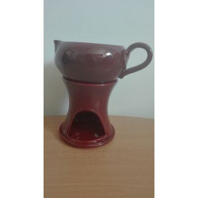 Masszázsolaj melegítő, levehető olajos csészével (2 részes)