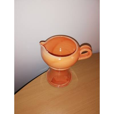 Masszázsolaj melegítő, levehető olajos csészével (2 részes)_narancssárga színű