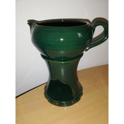 Masszázsolaj melegítő, levehető olajos csészével (2 részes)_zöld színű